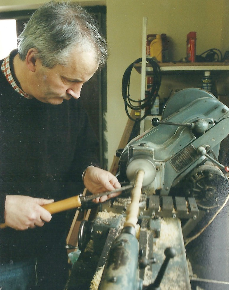 Mickey Dunne, making uilleann pipes.