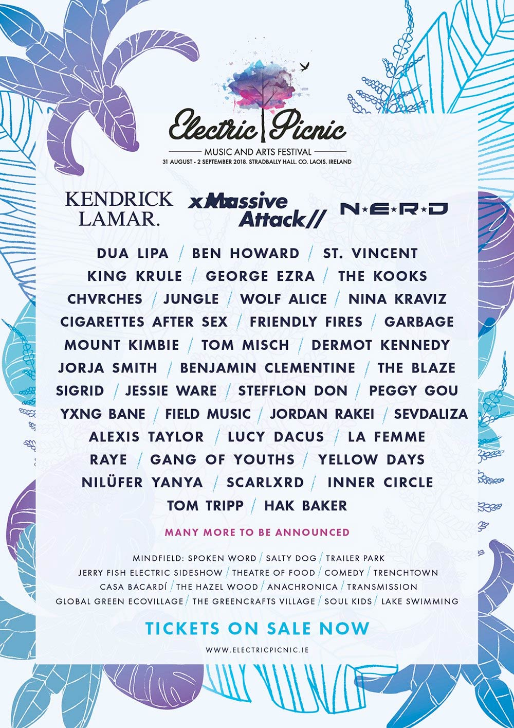 Electric Picnic 2018 Lineup Poster