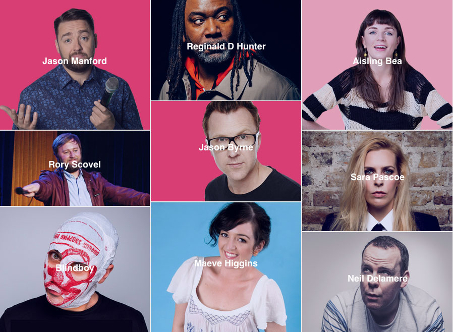 Some of the acts in this year's Kilkenny Cat Laughs Comedy Festival