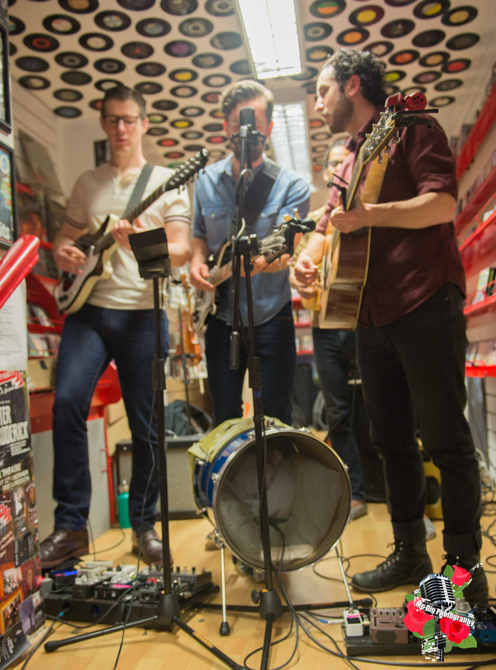Darlingside, live in Rollercoaster Records on 6/5/18. Photo: Ian McDonnell/Mc Gig Photography